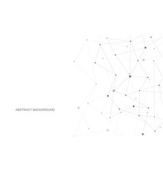 connecting dots and lines global network vector image