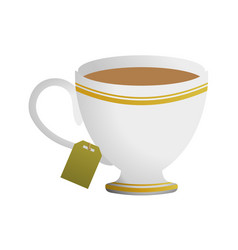 cup tea drink vector image