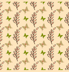 Cute butterfly seamless pattern background vector