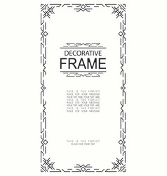 decorative geometric line frame vector image