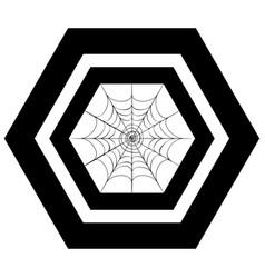decorative spider web vector image
