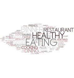 Eating word cloud concept vector