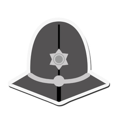 English police custodian helmet icon vector