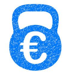 Euro weight grunge icon vector