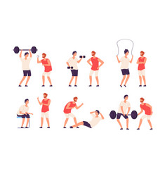fitness trainer male personal coach helps vector image