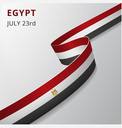 Flag egypt 23rd july vector
