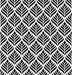 floral geometric seamless pattern vector image