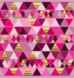 Geometry endless pattern with colorful triangles vector