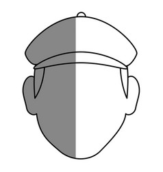 Golf player head avatar icon vector