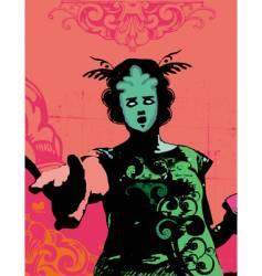grunge fashion model vector image