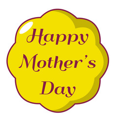 happy mother day icon cartoon style vector image