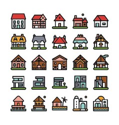 House unique icon logo vector