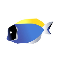 Icon fish vector