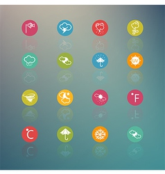 icons weather Circle Series on Retina background vector image