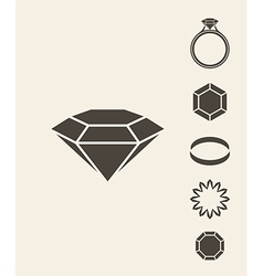 Jewelry and luxury Icon set vector
