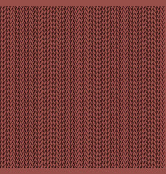 knit texture red color seamless pattern fabric vector image