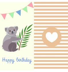 Koala birthday vector