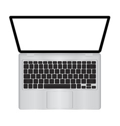 laptop with blank screen isolated on vector image