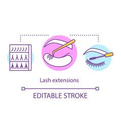 Lash extensions concept icon beauty service idea vector