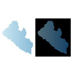 Liberia map hex tile mosaic vector