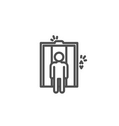 lift line icon elevator sign vector image
