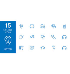 listen icons vector image