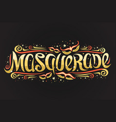 Logo for masquerade vector