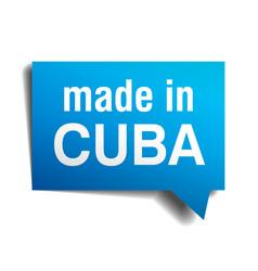 Made in cuba vector