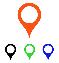 Map marker flat icon vector