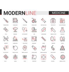 Medicine healthcare line icon vector