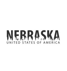 nebraska usa united states of america text or vector image