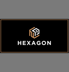 np hexagon logo design inspiration vector image