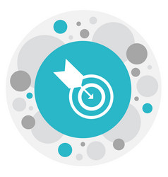 Of science symbol on goal icon vector