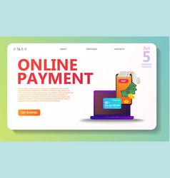 Online payment concept set vector