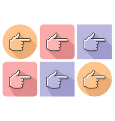 outlined icon hand with forefinger pointing vector image