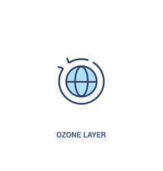 Ozone layer concept 2 colored icon simple line vector