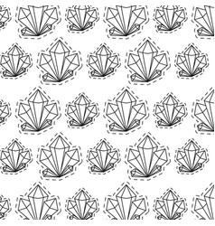 Pattern patches quartz rocks icons vector