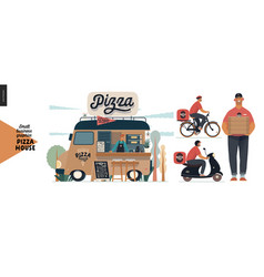 Pizza house - small business graphics - delivery vector