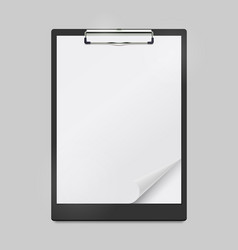 realistic clipboard mockup with blank white sheet vector image