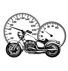 realistic motorcycle model vector image