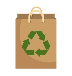 Recycle shopping bag with arrows vector
