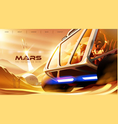 Rover missions on mars vector