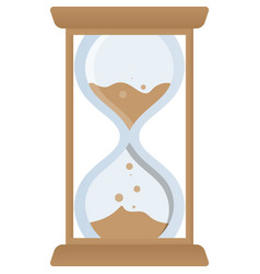 Sand hourglass icon isolated on white vector