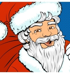 Santa Claus pop art style retro vector