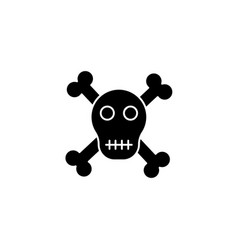 scull and bones isolated icon sign silhouette vector image