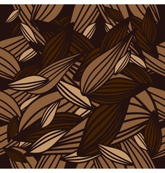 Seamless leafs background pattern art vector image