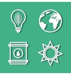 Set eco friendly icons vector