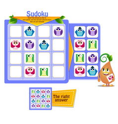 shapes game sudoku iq vector image