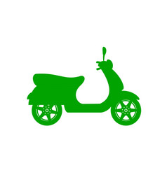 Silhouette of scooter in green design vector