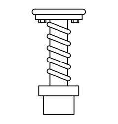 Spiral tool icon outline style vector
